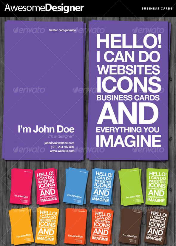 GraphicRiver Awesome Designer Business Cards 80878