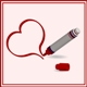 vector illustration of a red marker with heart - GraphicRiver Item for Sale