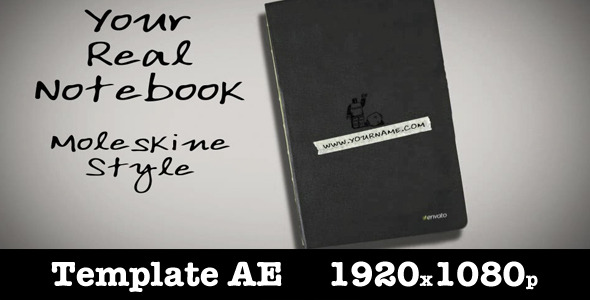 After Effects Project - VideoHive Your Real Notebook 2092549