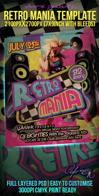 GraphicRiver Retro Mania Flyer Template 2149737