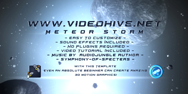 After Effects Project - VideoHive Meteor Storm 243747
