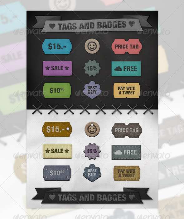 GraphicRiver Tags and Badges 243963