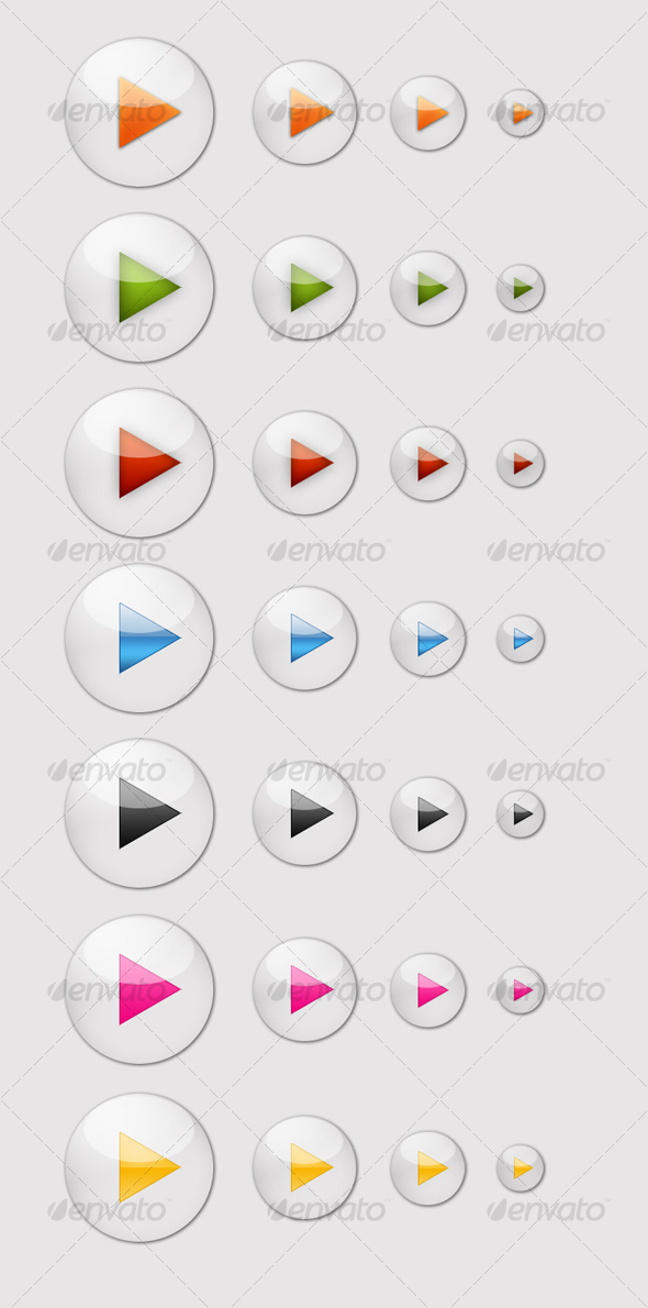 GraphicRiver 7 Glossy Play Icons 81075