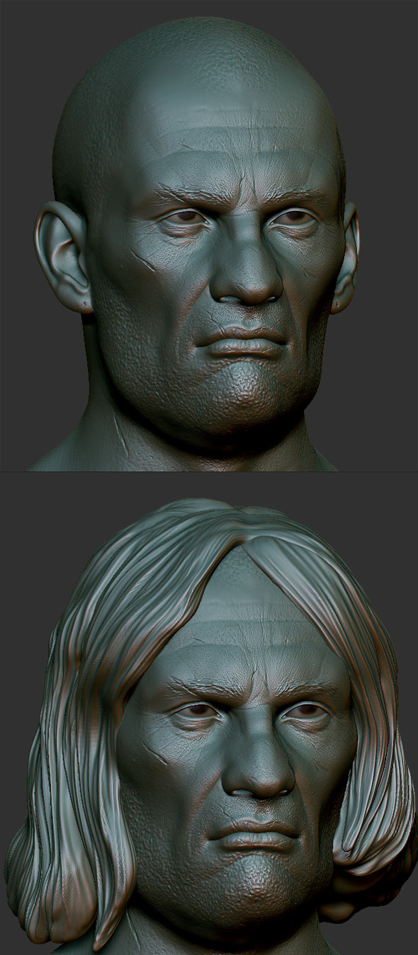 3DOcean Bad guy head Zbrush Sculpt 3D Models -  Humans 81185