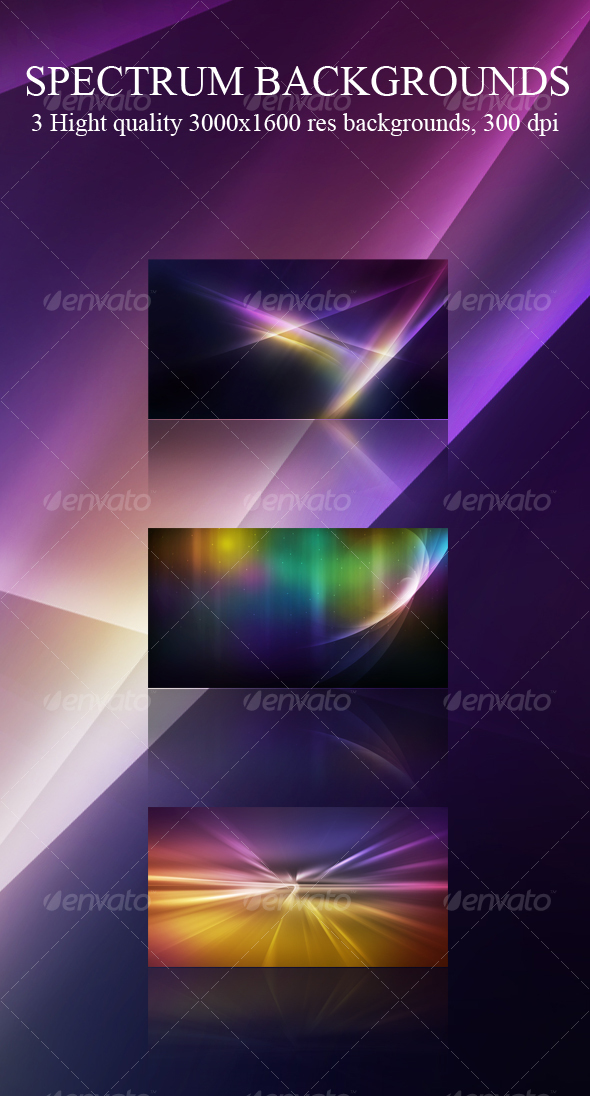 GraphicRiver Spectrum Abstract Backgrounds 81311