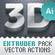 3D Extruder - Vector Actions Pack - GraphicRiver Item for Sale