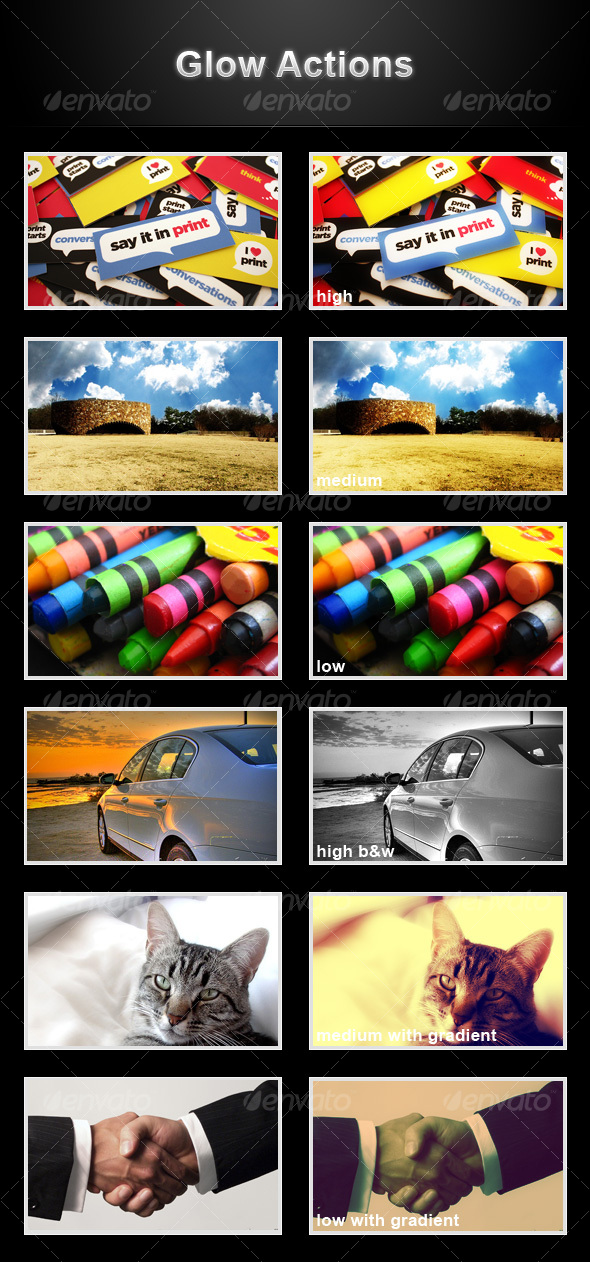 GraphicRiver Glow actions 79441