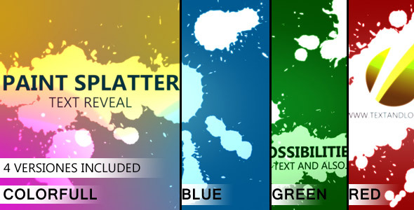 VideoHive Reveal Text and Logo with Paint Splatters 2168259