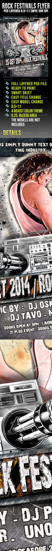 GraphicRiver Rock Festivals Flyer 666872