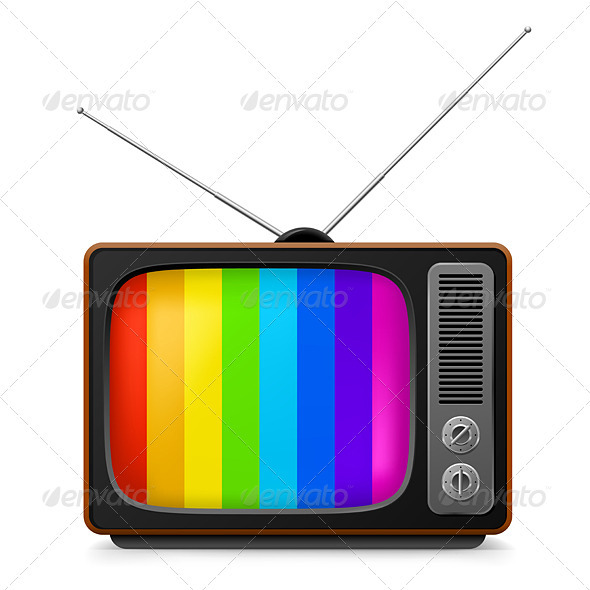 GraphicRiver Realistic vintage TV with Color Frame 2169435
