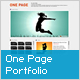 One Page Portfolio V2 - ActiveDen Item for Sale
