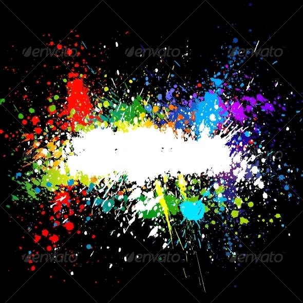 GraphicRiver Color paint splashes Gradient vector background 81561