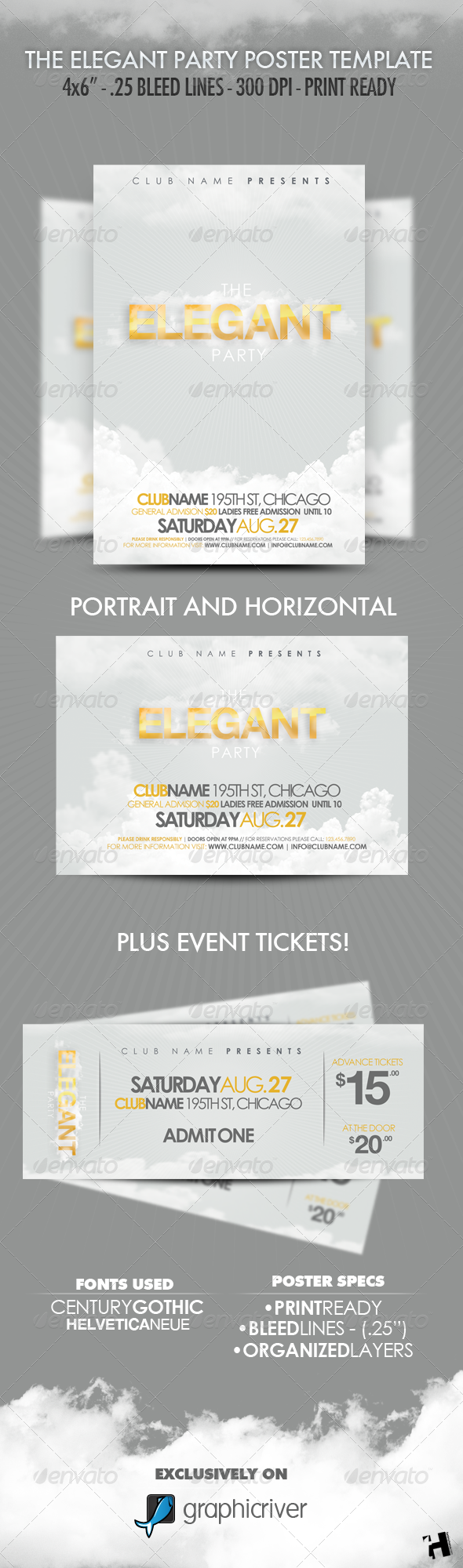GraphicRiver The Elegant Party Flyer Template 246051