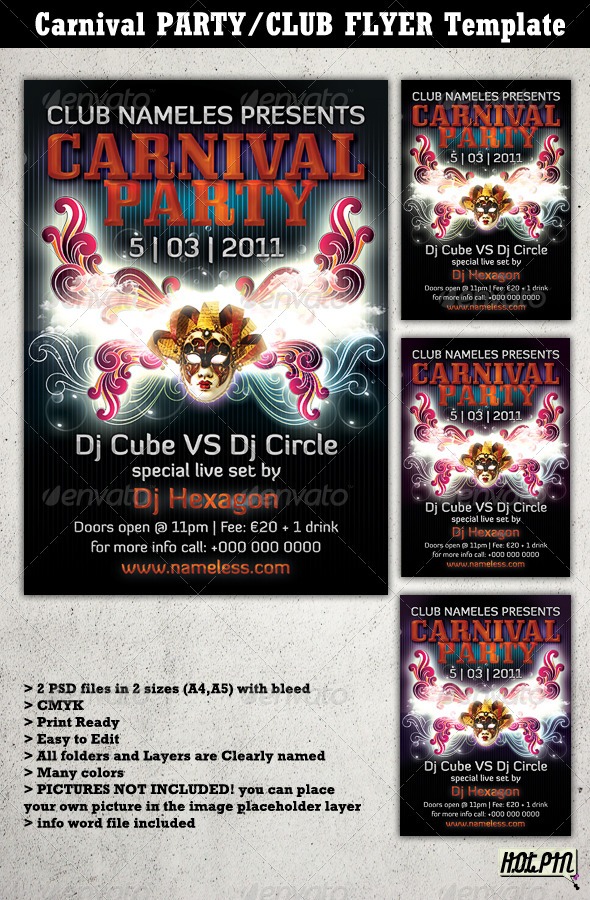 GraphicRiver Carnival Party Club Flyer Template 2 162669