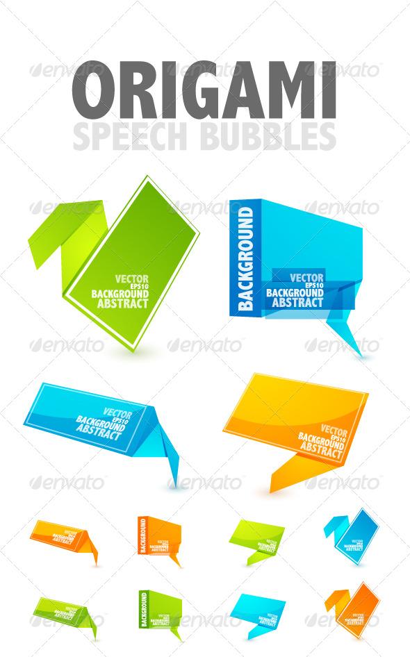 GraphicRiver Origami speech bubbles 246329