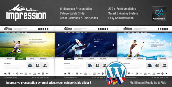 ThemeForest Impression Premium Corporate Presentation WP Theme 2174575