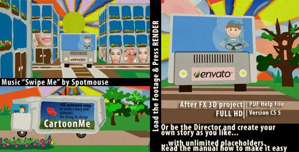 After Effects Project - VideoHive Cartoon me Viral Template 2174585