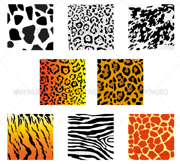 GraphicRiver Set of animal fur and skin patterns 81815