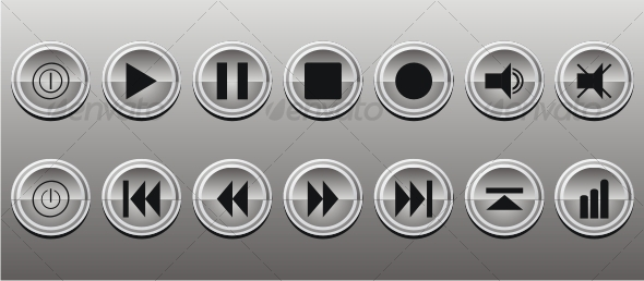 GraphicRiver Buttons Media Panel Icon Set 81878