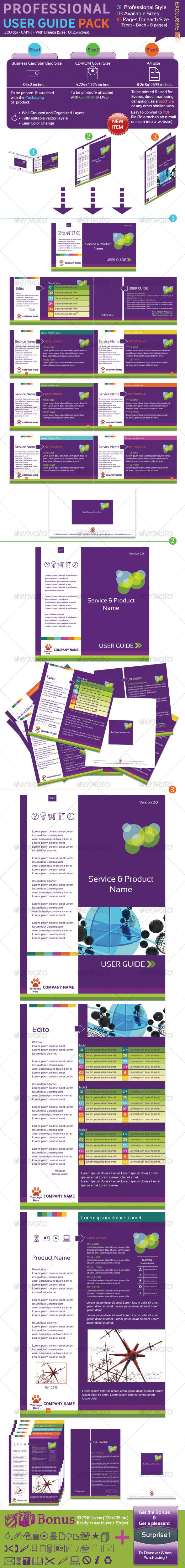 GraphicRiver Professional User Guide Pack 78731