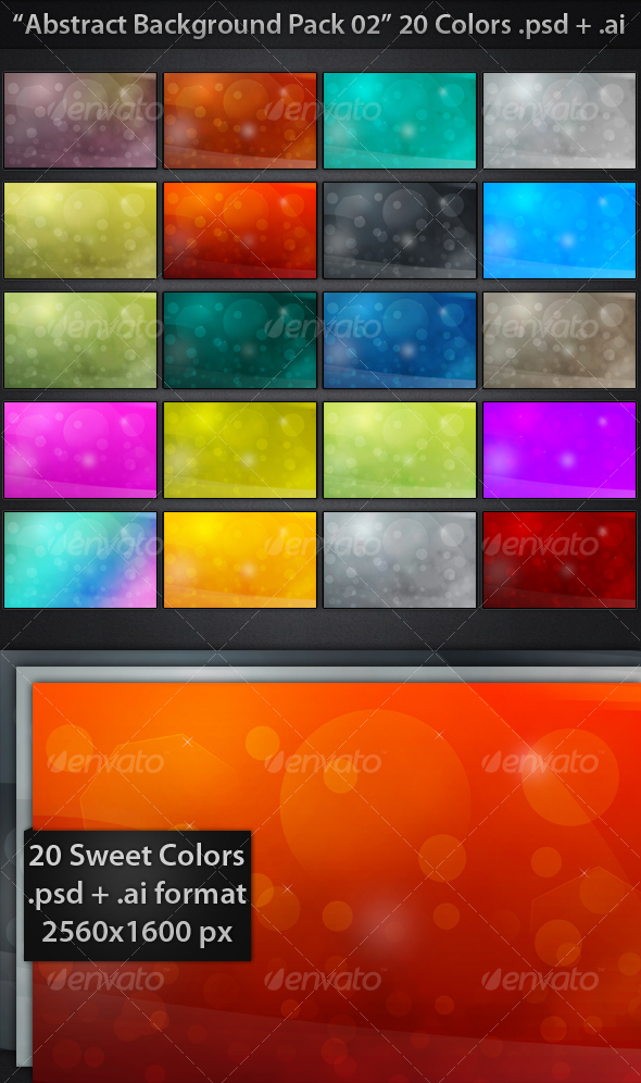GraphicRiver Abstract Backgrounds Pack 02 68600