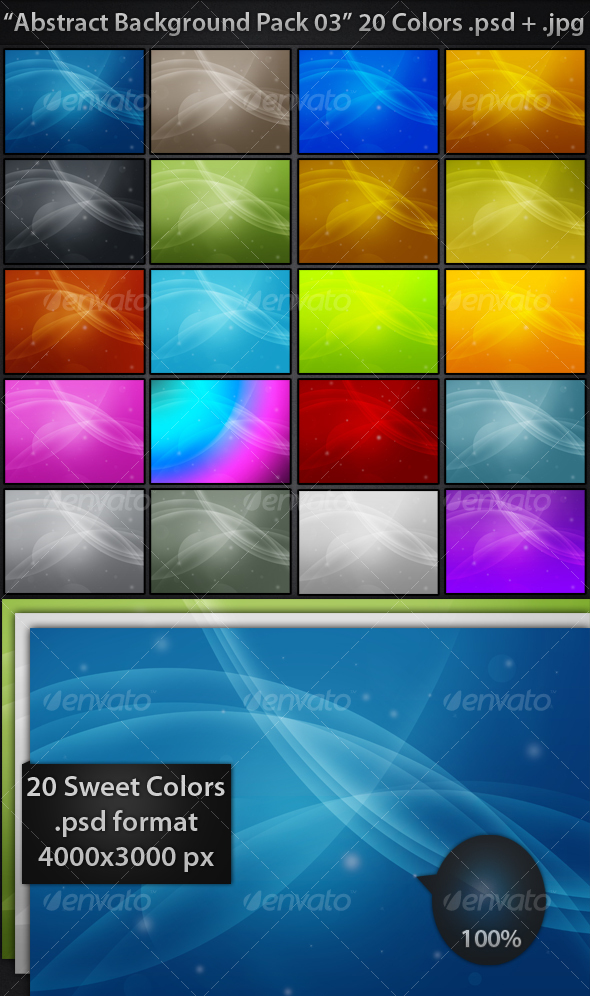 GraphicRiver Abstract Backgrounds Pack 03 69022
