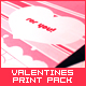 Valentines and birthday print pack - GraphicRiver Item for Sale