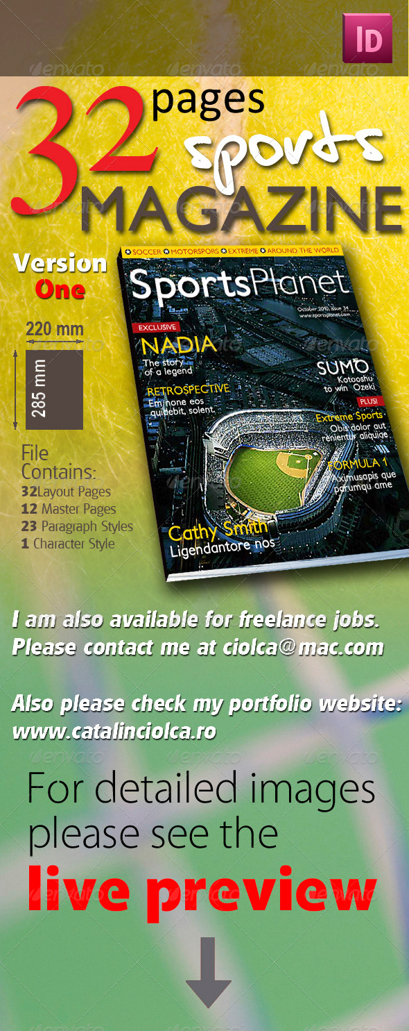 GraphicRiver 32 Pages Sports Magazine 514732