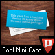Mini Business Card Template - Designers - GraphicRiver Item for Sale