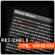 RESIZABLE XML WINDOW v1.0 - ActiveDen Item for Sale