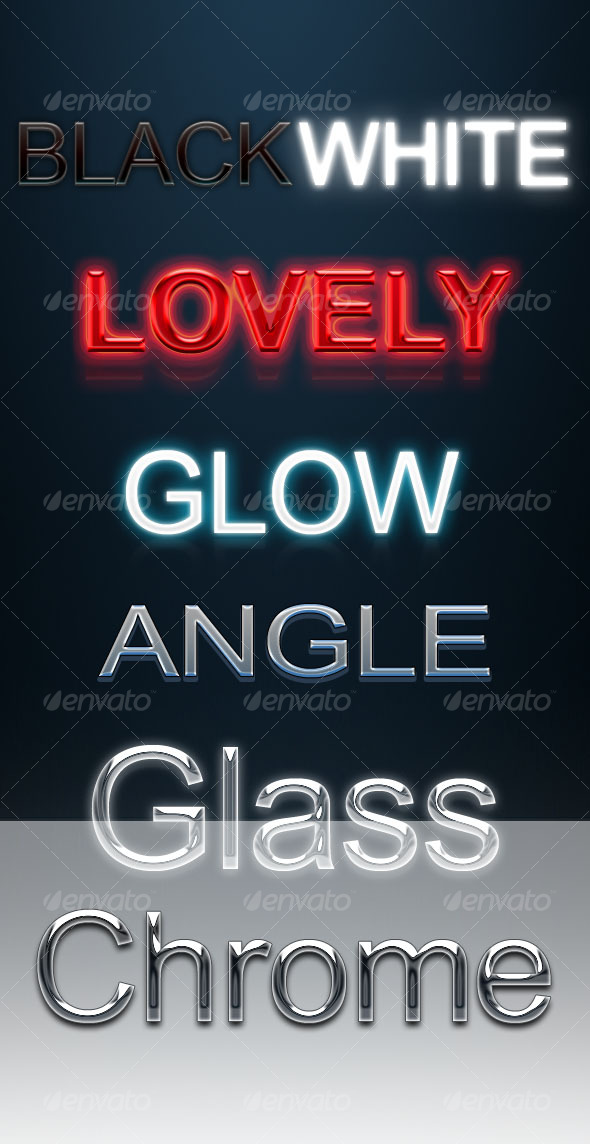 GraphicRiver 7 Text layer styles 80868