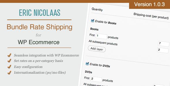 CodeCanyon WP E-Commerce Bundle Rate Shipping Plugin 1376530