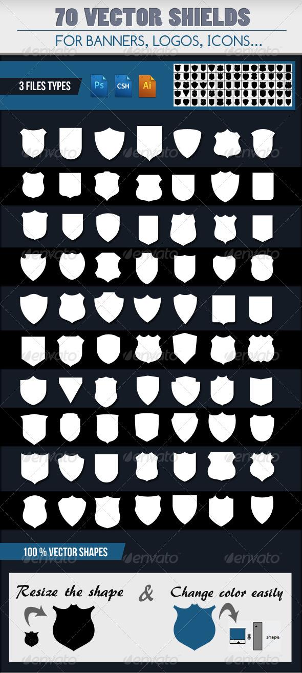 GraphicRiver 70 Emblem Shields 2190259