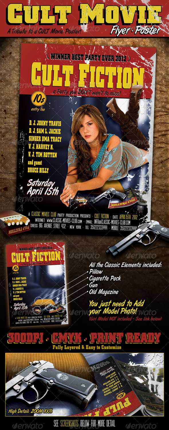 GraphicRiver Cult Movie Flyer Poster 2190706