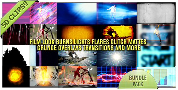 VideoHive Film Looks Glitch Burns Trans And More Bundle Pack 2162079