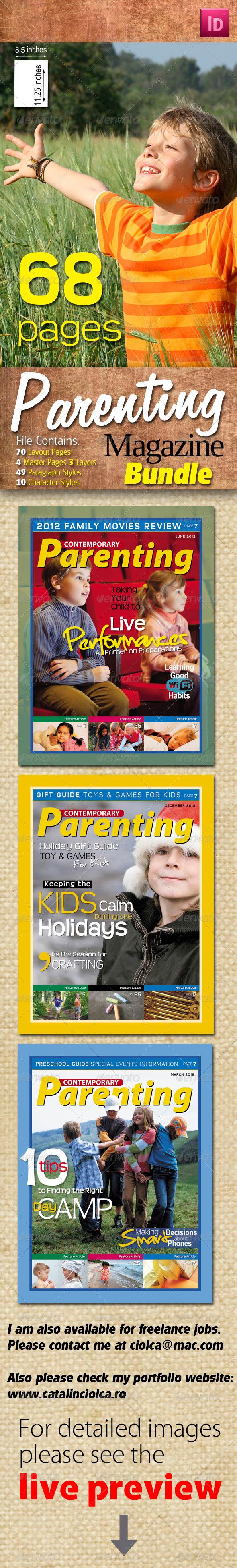 Graphic River 68 Pages Parenting Magazine Bundle Print Templates -  Magazines 934351