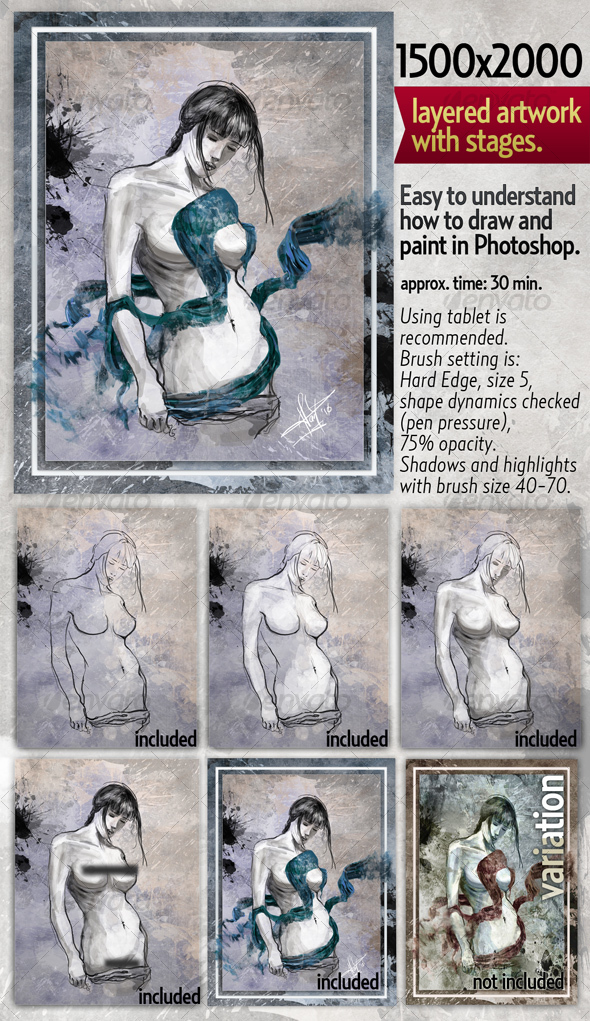 GraphicRiver Layered Original Artwork in stages of progress 82274