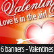 Valentines Day Banners - 6 sizes - Layered PSD - GraphicRiver Item for Sale