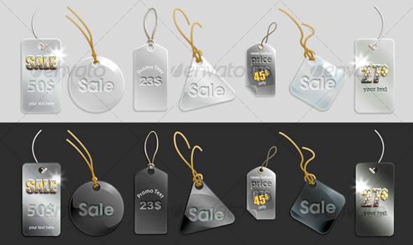 GraphicRiver glassy tags 82346