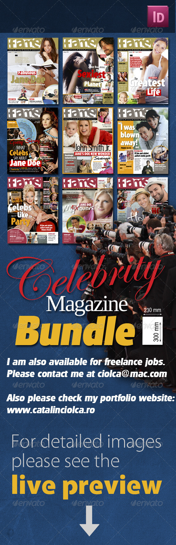 Graphic River Celebrity Magazine Bundle Print Templates -  Magazines 820919