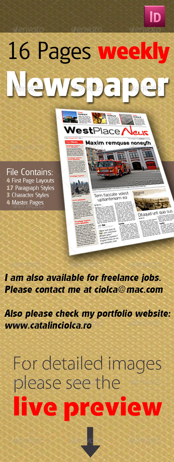 GraphicRiver 16 Pages Weekly Newspaper 529041