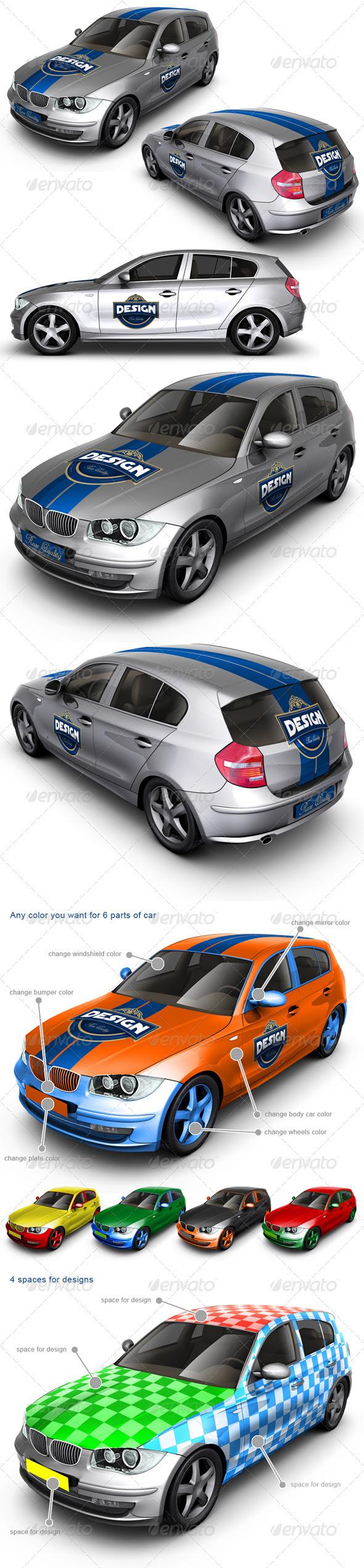 GraphicRiver Executive Family Car Mock Up 2207278