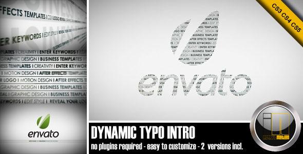 VideoHive Dynamic Typo Intro 2207350