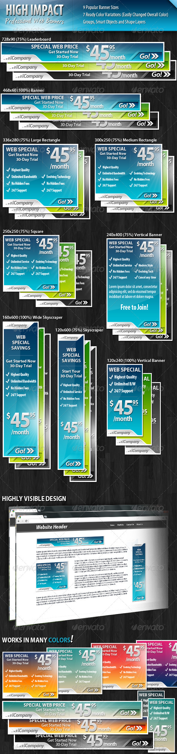 GraphicRiver High Impact Professional Web Banners 2165595