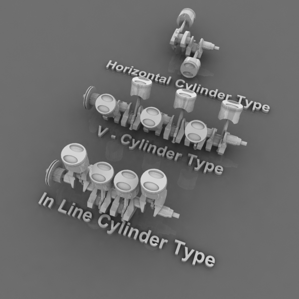 3DOcean 3 Type Cylinder Machine Pack 3D Models -  Engines and Parts 82763