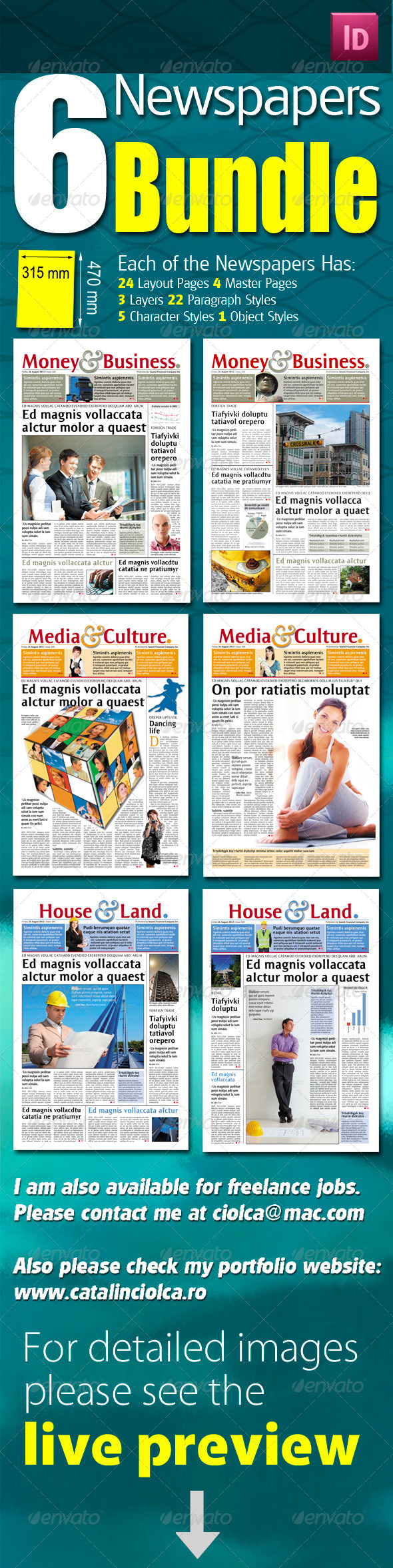 GraphicRiver 6 Berliner Sized Newspapers Bundle 1177452