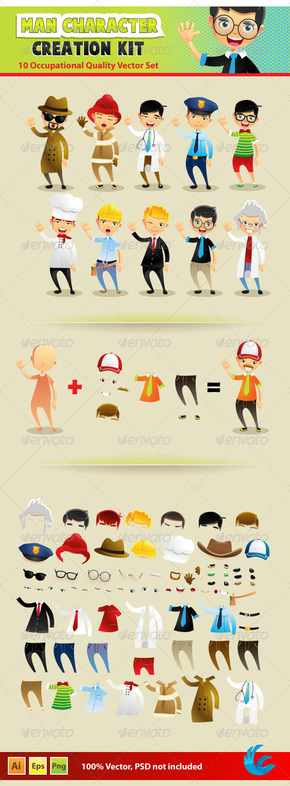 GraphicRiver Man Character Creation Kit 2209551
