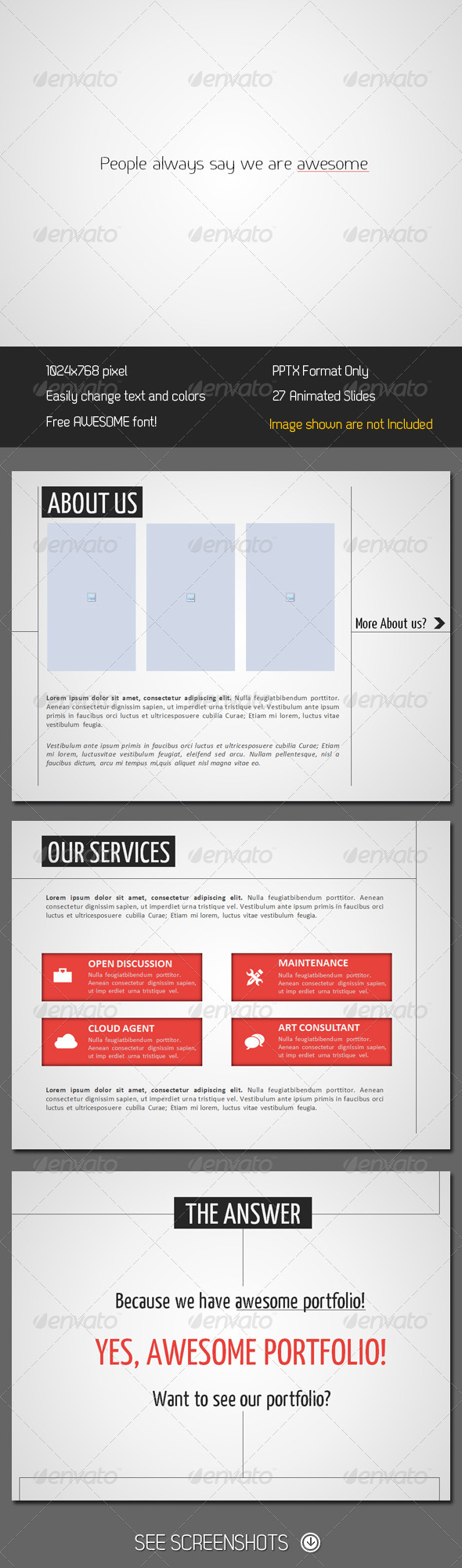GraphicRiver Minimalistic PowerPoint Presentation 250589