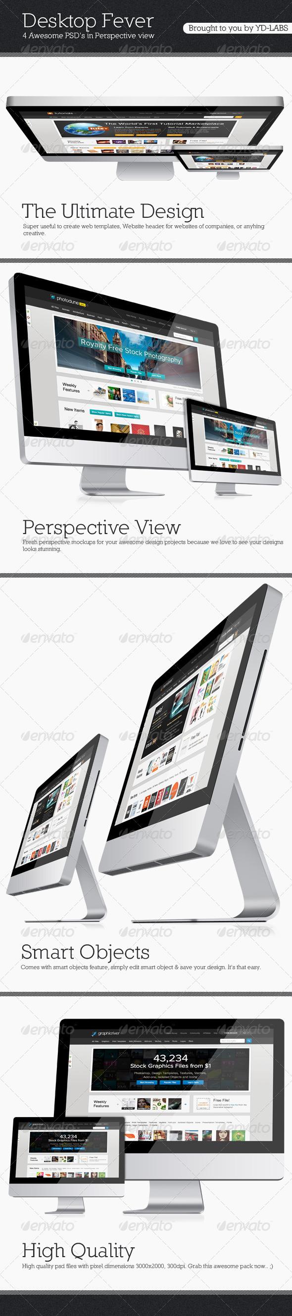 GraphicRiver Desktop Fever Mockup Pack 2212015