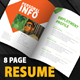 Clean and Creative Resume Book  - GraphicRiver Item for Sale